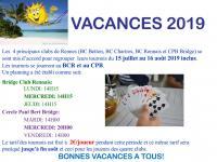 Affiche vacances 2019