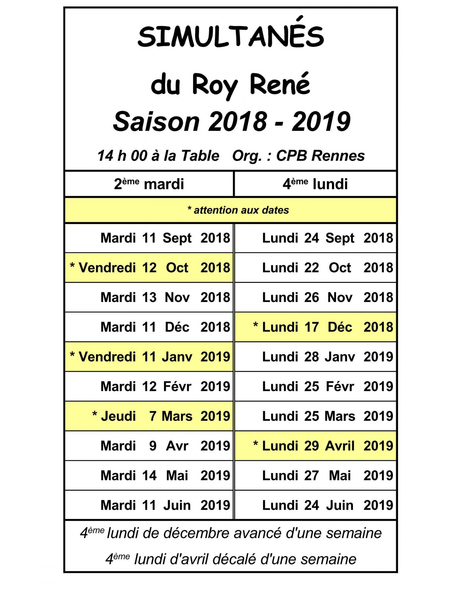 Roy René 2018 2019